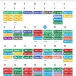 packed calendar