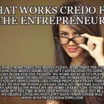 A credo for entrepreneurs
